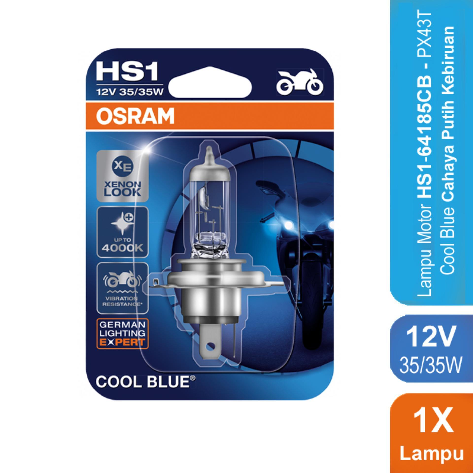 Osram Lampu Depan Motor HS1 64185CB 12V 35/35  PX43T - Cool Blue - u/ Motor (vixion, bison)  Murah