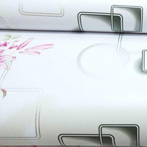 Detail Gambar WALLPAPER Stiker Dinding Motif Dan Karakter kotak bunga Size 45cm X 10M ETI_SHOP Terbaru