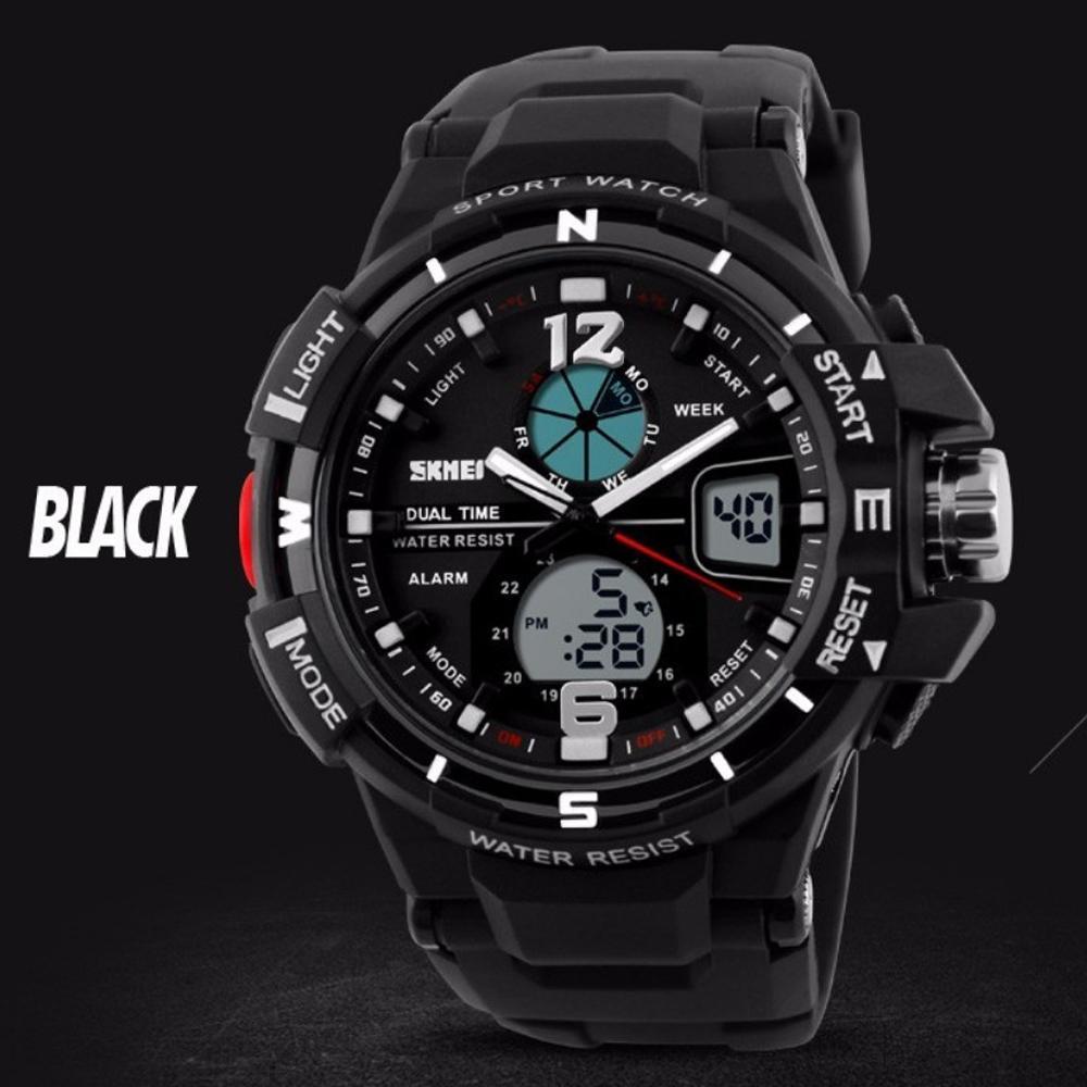 ... SKMEI AD1148 Jam Tangan Pria Digital Analog Sport Cowok LED Water  Resistant 50M 1148 Original ... 882061ea8e