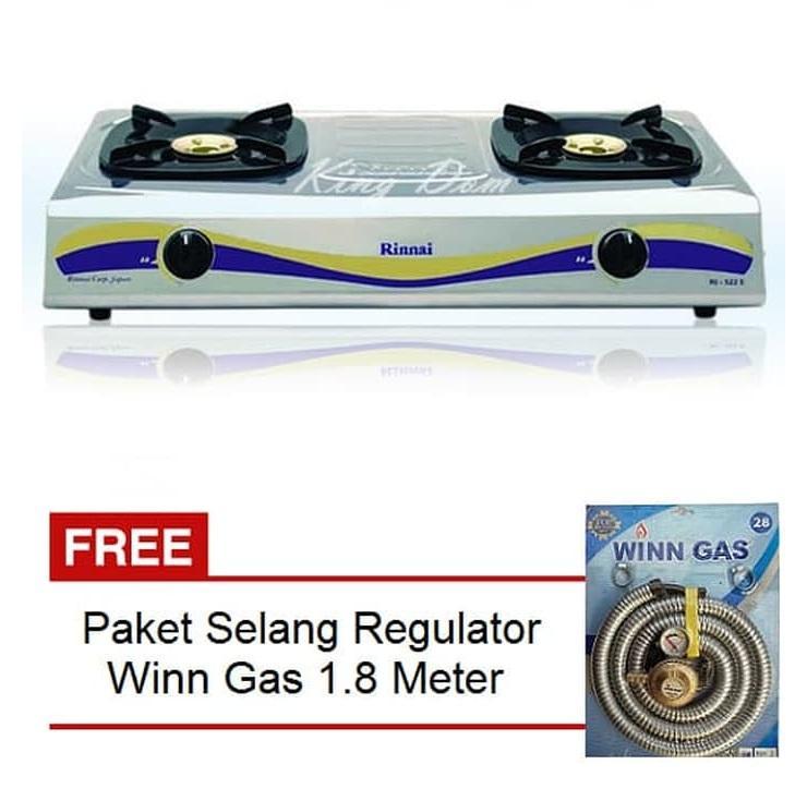 Quantum Kompor Gas 1 Tungku Qgc101r Free Gascomp Paket Source · Paket Kompor Gas 2 Tungku Rinnai RI 522 E Selang Paket Regulator Winn Gas