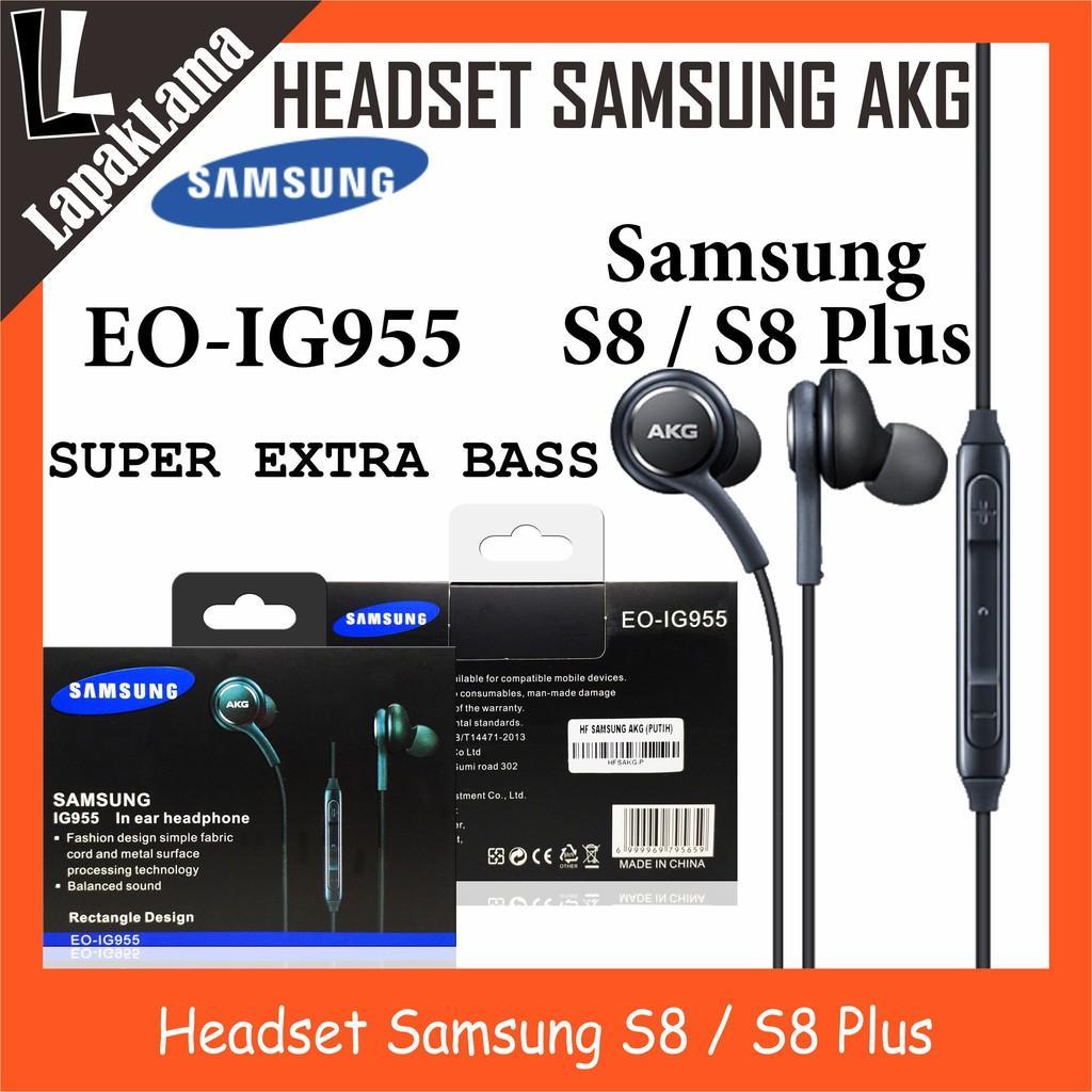 Headset Handsfree Akg Samsung S8 / S8 Plus Super Extra Bass Universal