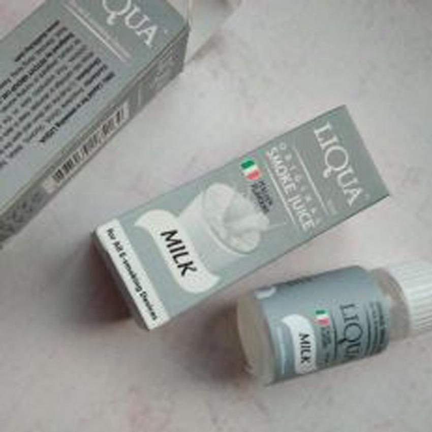 Liqua Original Smoke Juice - Italian Flavour Premium E-Liquid Refill 10ml 0% Niccotine Rasa Milk