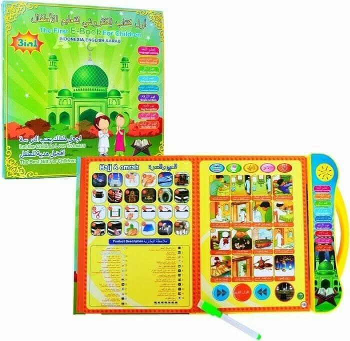 11beststore — mainan edukasi ebook muslim 3 bahasa / mainan anak edukatif   paket terlaris