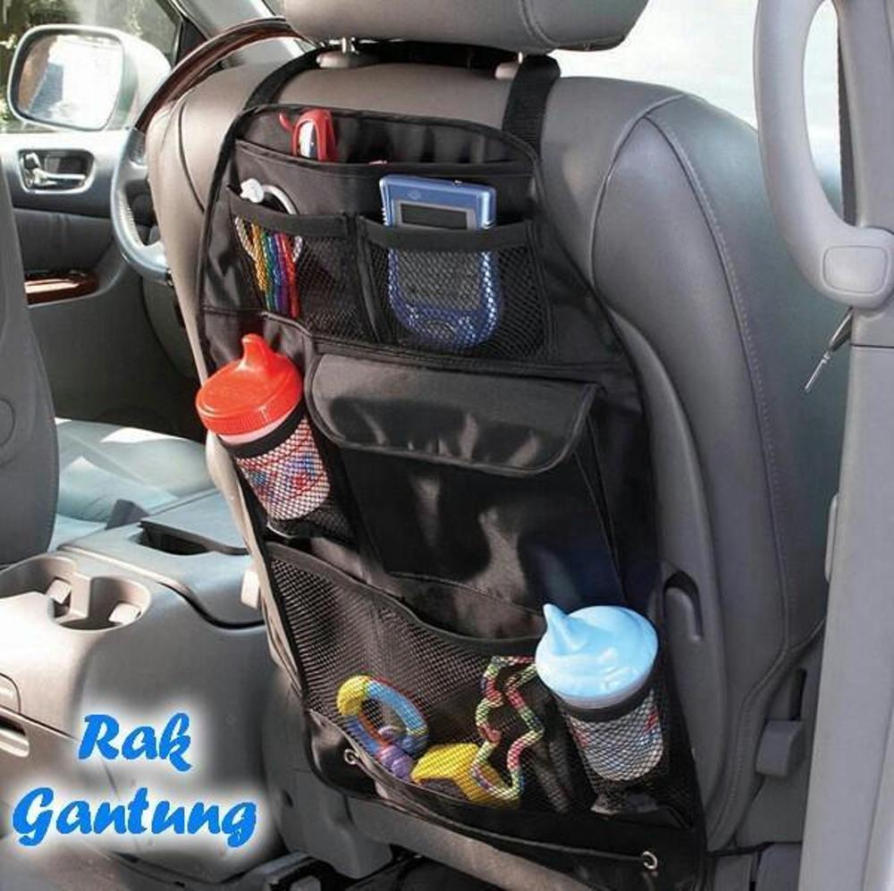 Bandingkan Toko Tas Rak Jok Gantung Mobil - Kantong yang di simpan dibelakang JOK Mobil sebagai