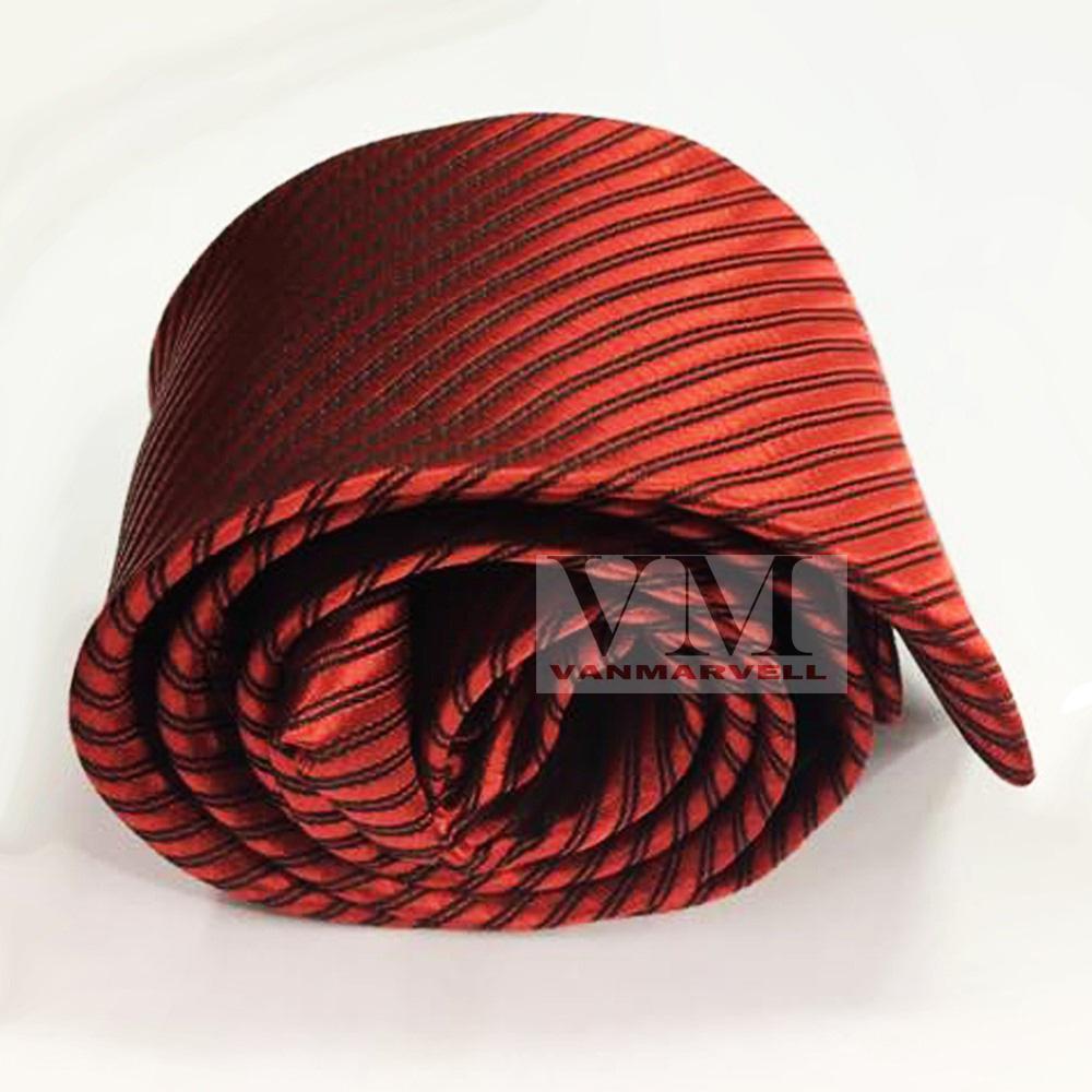 Detail Gambar VM Dasi Fashion Slim Merah - Long Slim Tie Terbaru