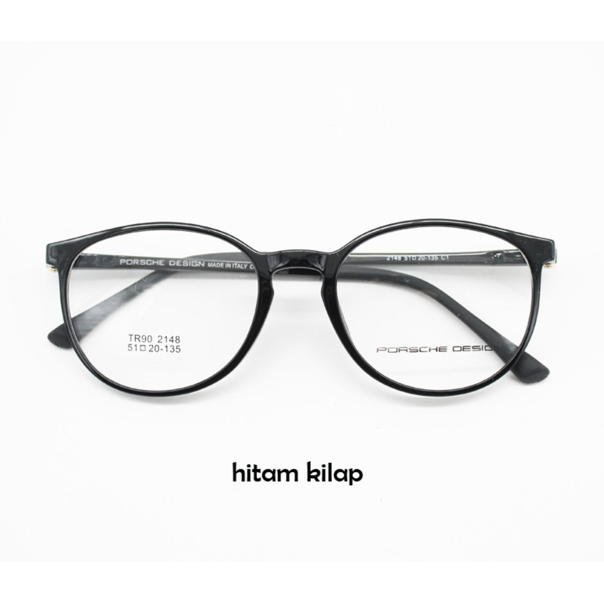 Frame Kacamata Fashion 2148 Bulat Bisa Ganti Lensa Minus Anti Radiasi  Sendiri 6a1b858f56