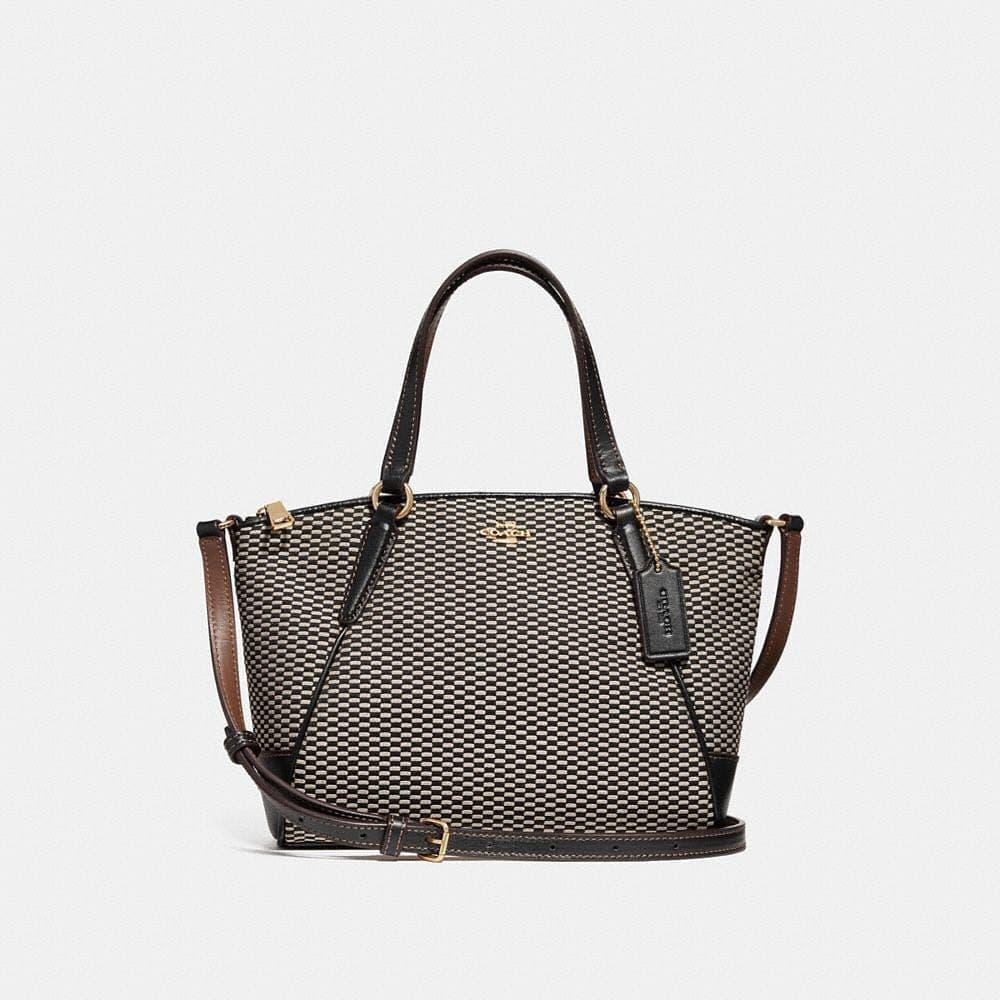 TAS COACH ORIGINAL - COACH KELSEY MINI JACQUARD BLACK