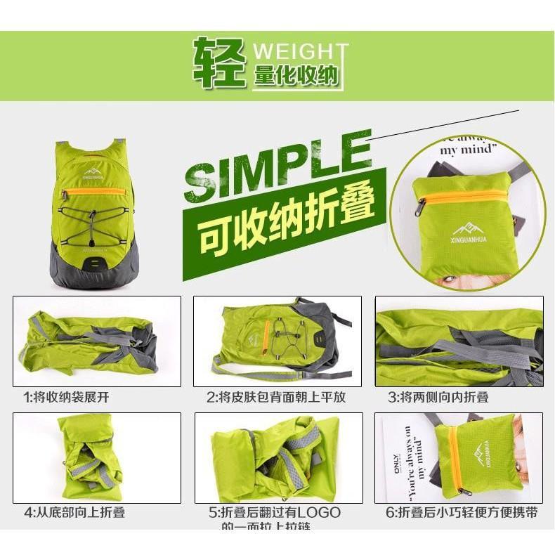 Hot Sale! READY Tas Mini Lipat Dompet Backpack Ransel Sepeda Gunung Outdoor Jalan 18L TERUPDATE
