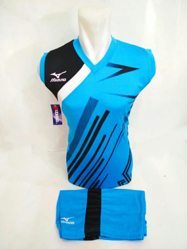 [Singlet Mz 23 Biru Muda]Baju Kaos Olahraga Jersey Bola Setelan Futsal/ Volley