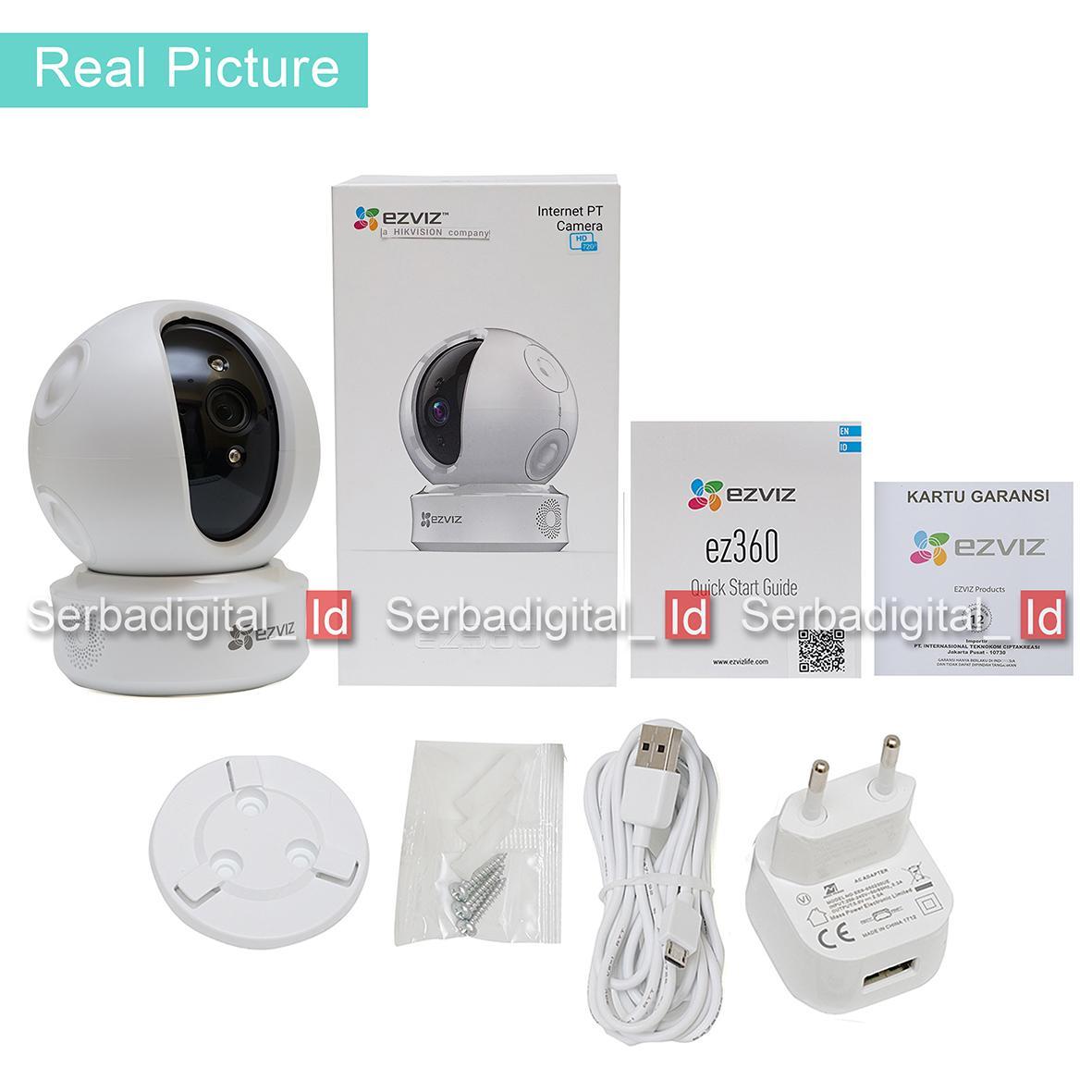 Detail Gambar EZVIZ C6C 720p Smart 360 Panoramic Pan Tilt /EZ360 CCTV IP Camera Dome Terbaru