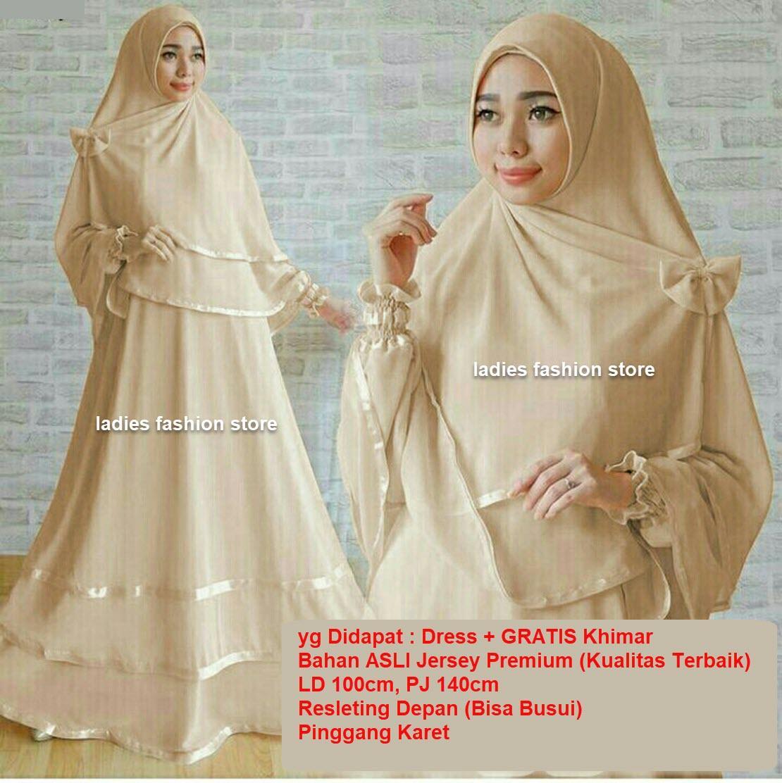 Dress Muslimah BUSUI   Fashion Muslim   Gamis Muslim Syari   Dress Muslim   Gamis  Wanita a1c5745f32