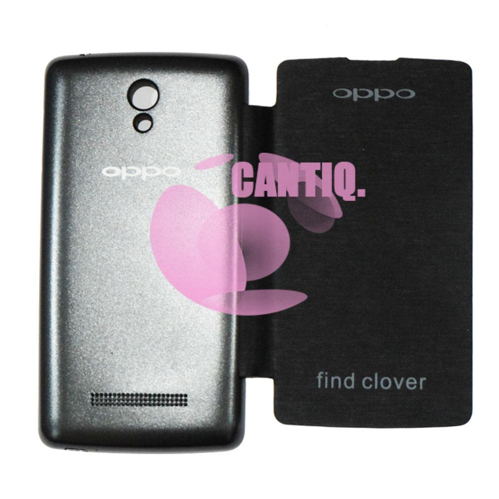 Produk Cantiq Oppo Find Clover R815 Flip Cover Kulit Hardcase / Leather Cover / Sarung Handphone