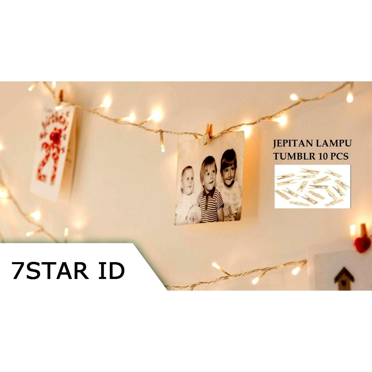Lampu LED Tumblr/Jepitan Lampu Tumblr ELT N-1031 7STAR Tumblr Natal Twinkle Light 10 Meter FULL + Ada Colokan Sambungan