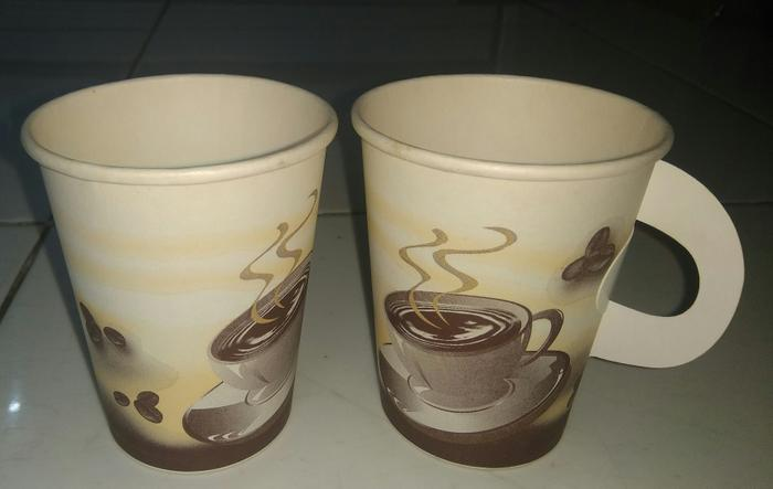 Paper Cup / Gelas Kertas ukuran 8oz Generic design with Handle -