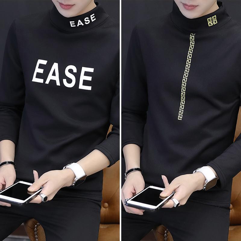 Korea Fashion Style ditambah beludru pria pakaian luar yang hangat bottoming kemeja tebal lengan panjang t