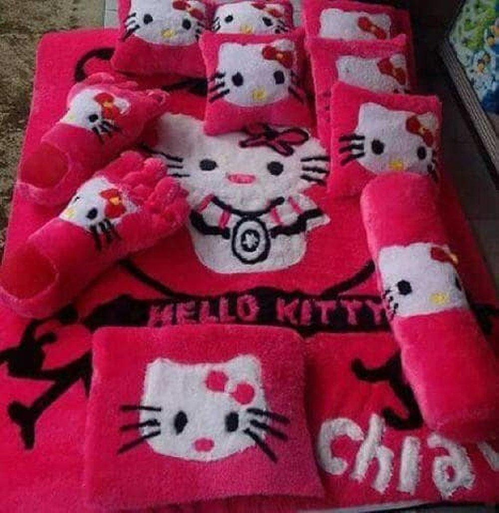 Kelebihan Rak Karakter Set 3in1 Tas Sepatu Hijab Restleting Karpet Hello Kitty Full
