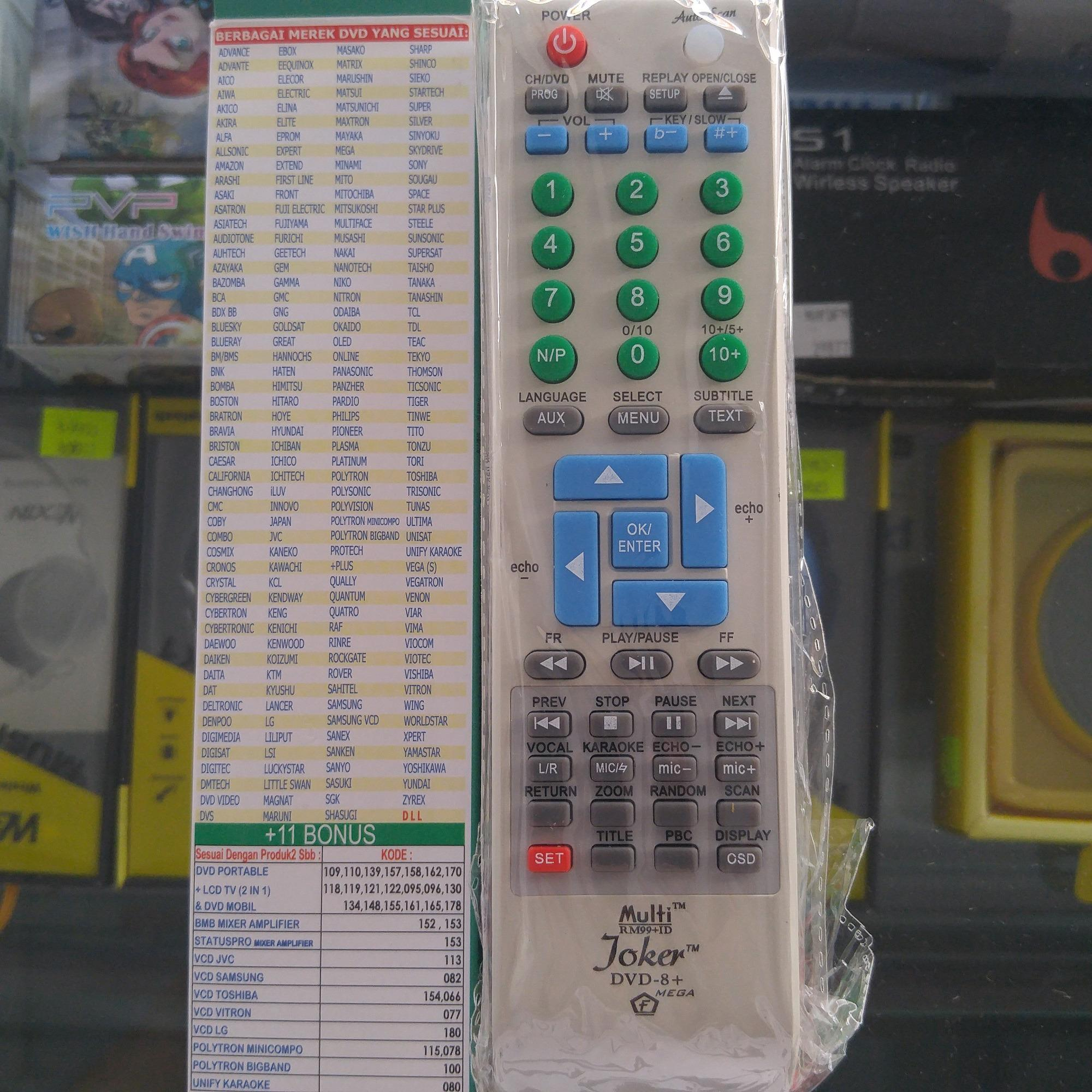Remote Control JOKER DVD Universal