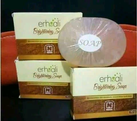 Erhsali Brightening Soap Original Nasa Membersihkan Dan Mencerahkan Wajah
