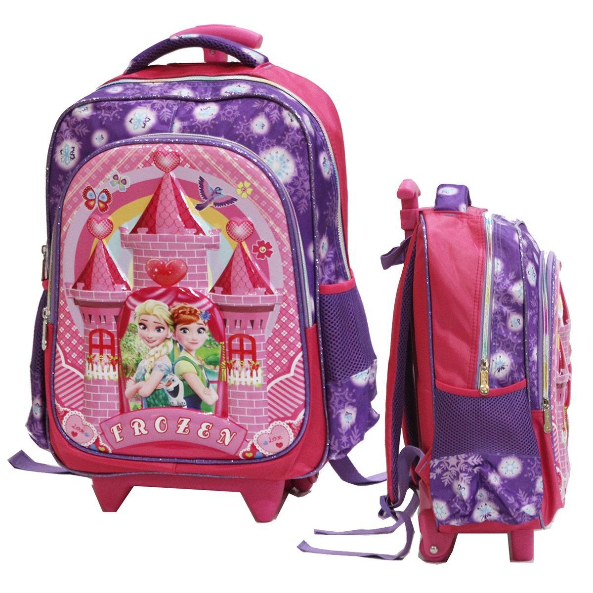 Beli Onlan Frozen Fever Flower 6D Timbul Tas Trolley Anak Sekolah Sd Import Purple Secara Angsuran