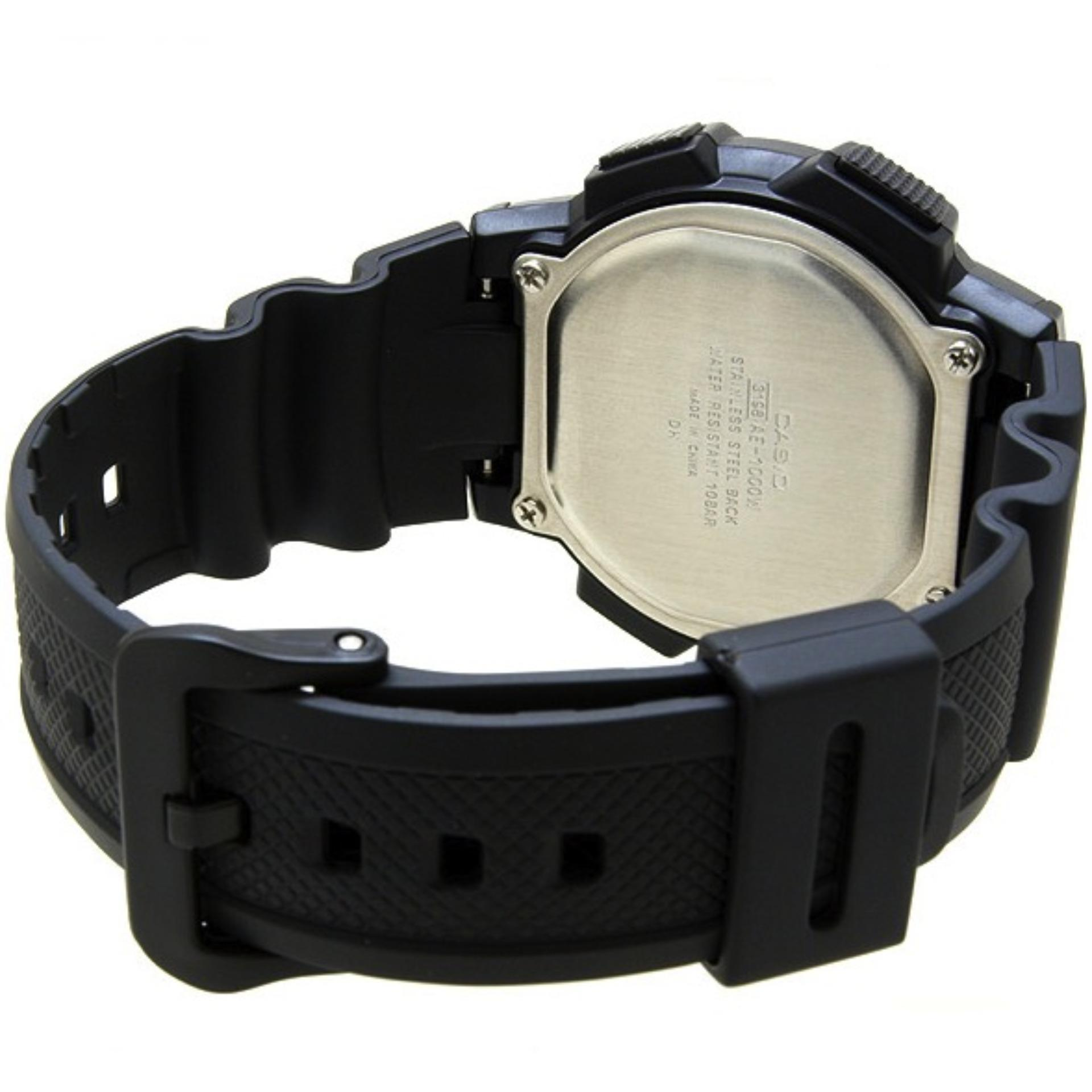 ... CASIO Illuminator AE-1000W - Jam Tangan Pria - Tali Karet - Digital  Movement Promo 09502a14ff