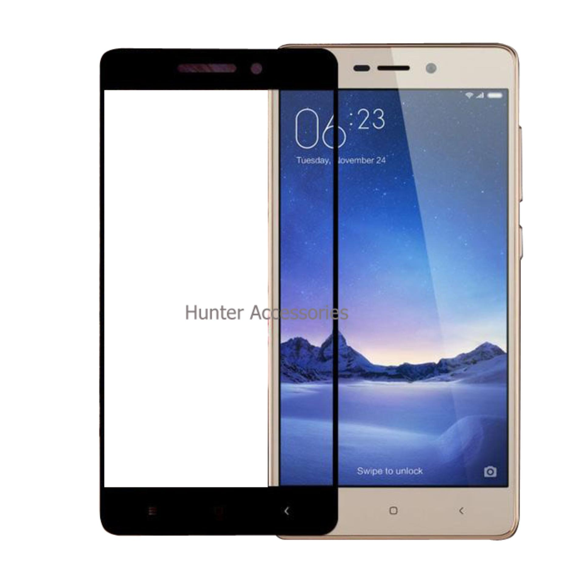 Tempered Glass / Anti Gores Kaca Xiaomi Redmi 3S 3D Full Color - Hitam