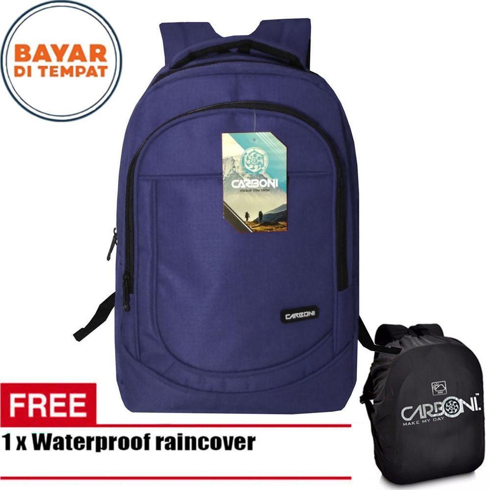 Harga Carboni Backpack Tas Ransel Laptop Casual Ma00028 15 Blue Original Raincover Yang Bagus