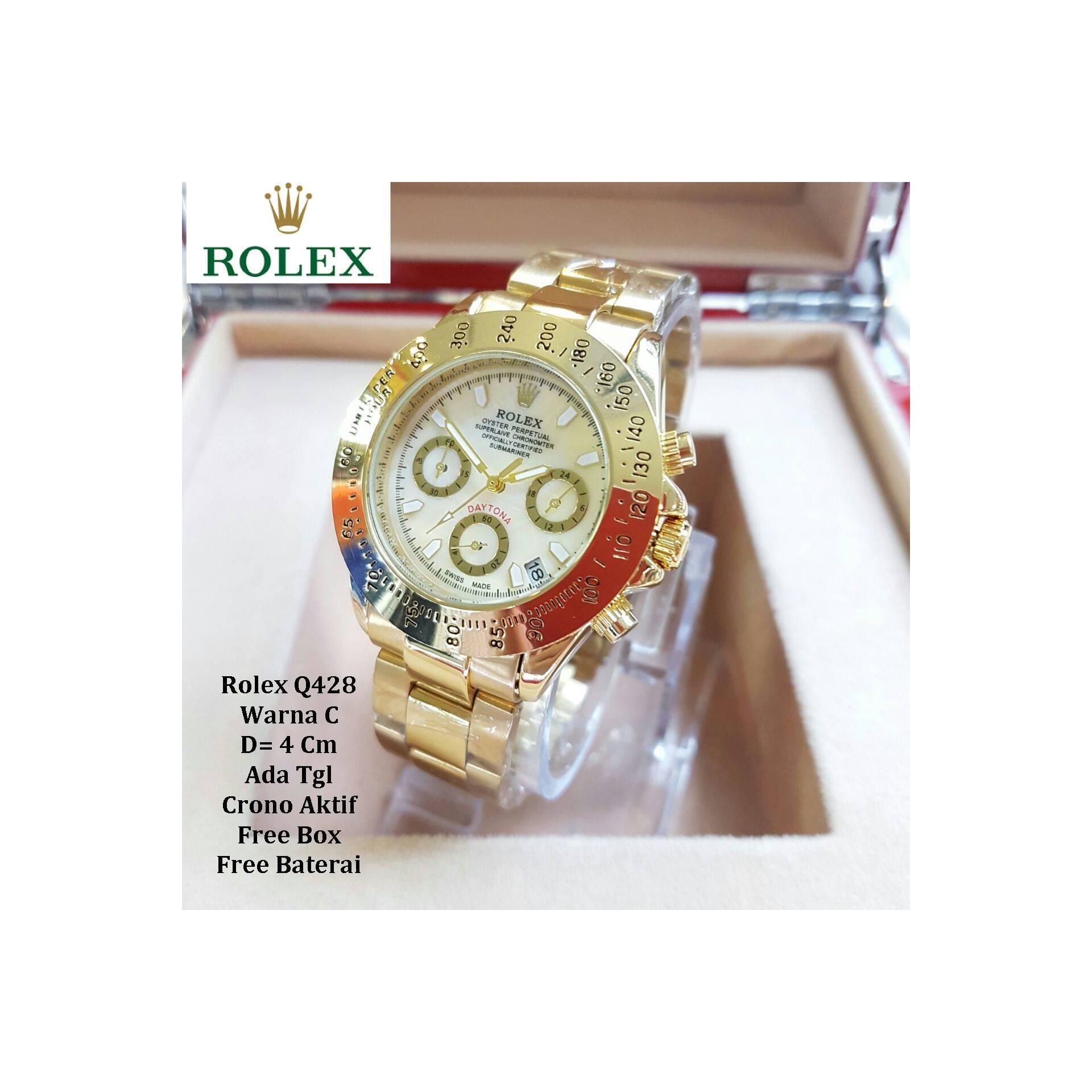 Jam tangan wanita / Jam tangan Murah Rolex Titanium Full Gold + Box