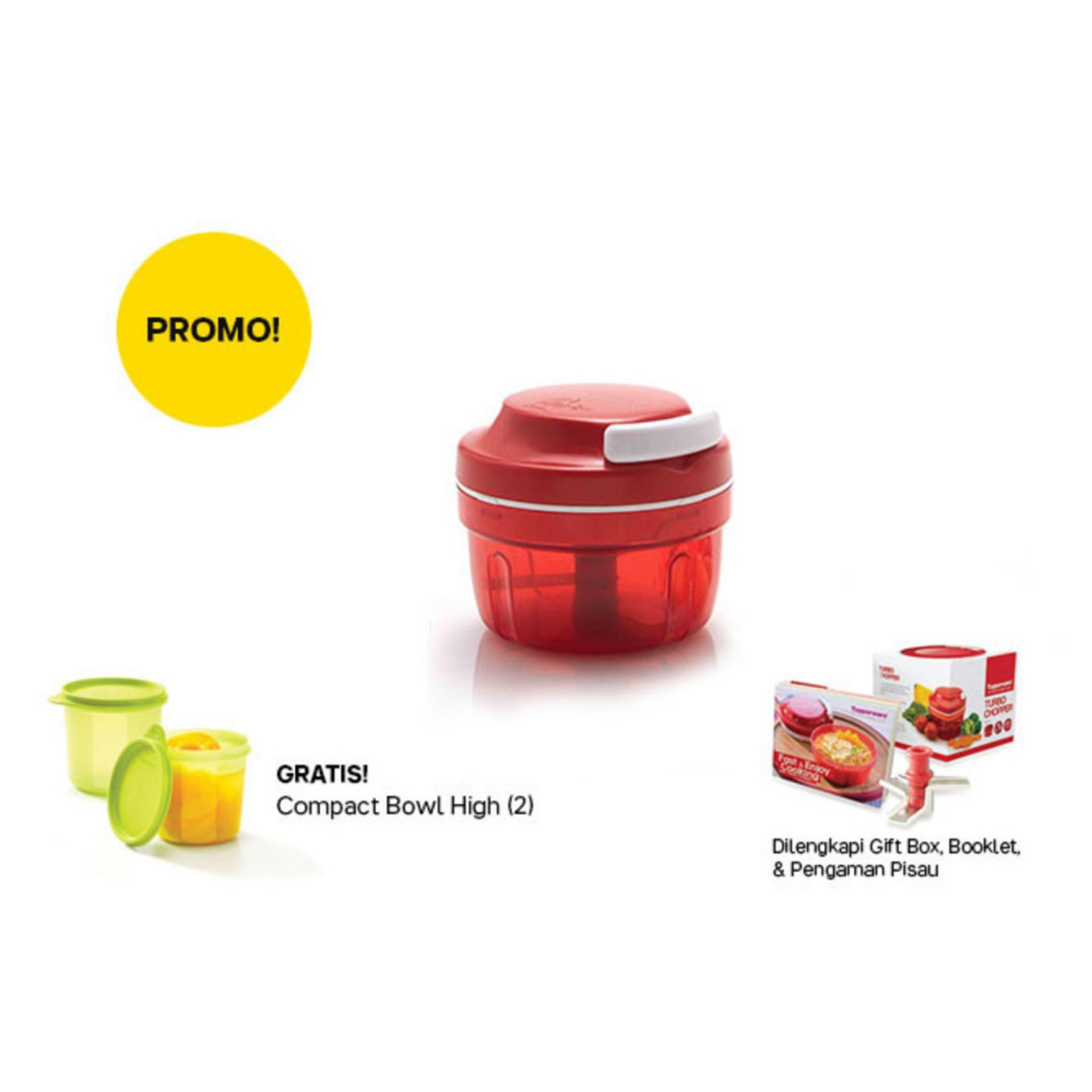 Fitur Tupperware Servalier Bowl 4pcs Toples Warna Warni Promo Turbo Chopper 1 Red With Free Compact High 2pcs