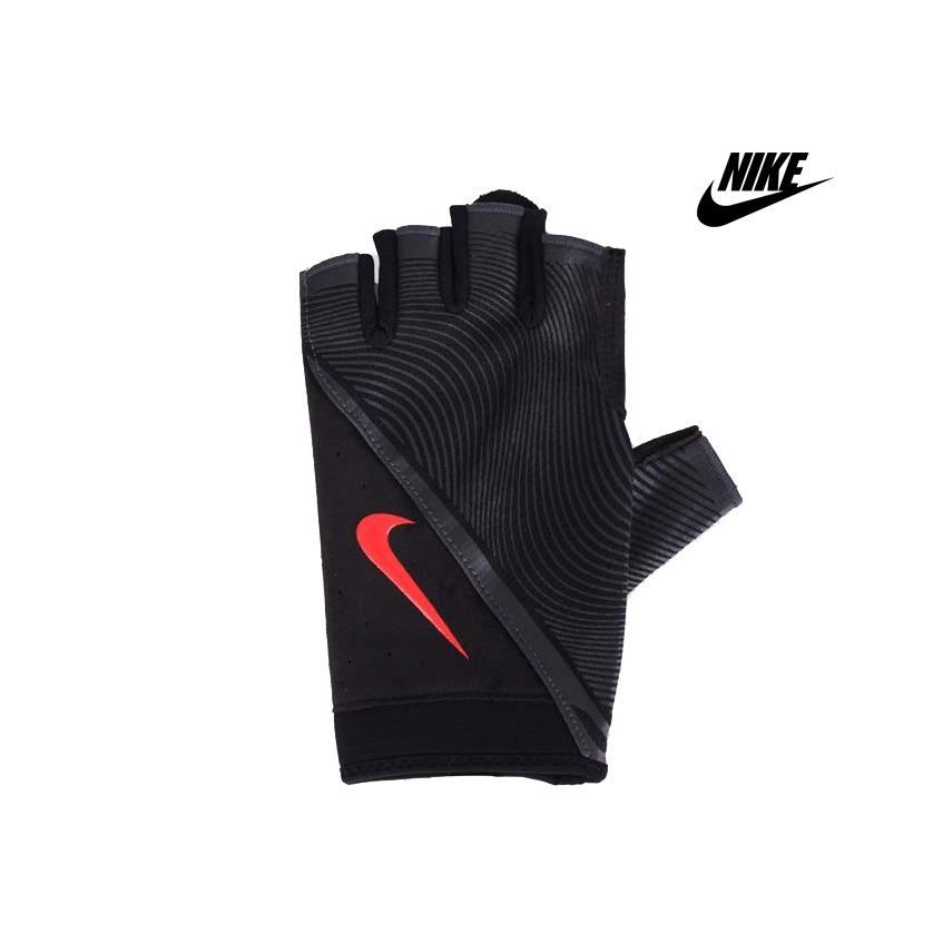 Aksesoris Olahraga|Sarung Tangan Fitness|Sarung Tangan Nike Ori|Sarung Tangan Nike Murah|Nike Mens Havoc Training Gloves Black/Red-NLGB6053
