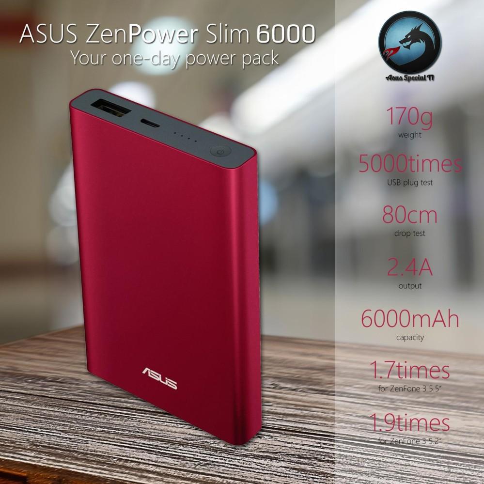 Asus ZenPower Slim 6000mAh ABTU007 Featuring 2.4A fast-charging Original