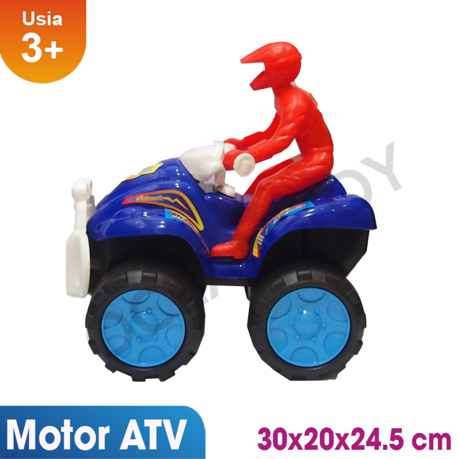 Ocean Toy Motor ATV + Orang Mainan Anak OCT6007BC - Biru
