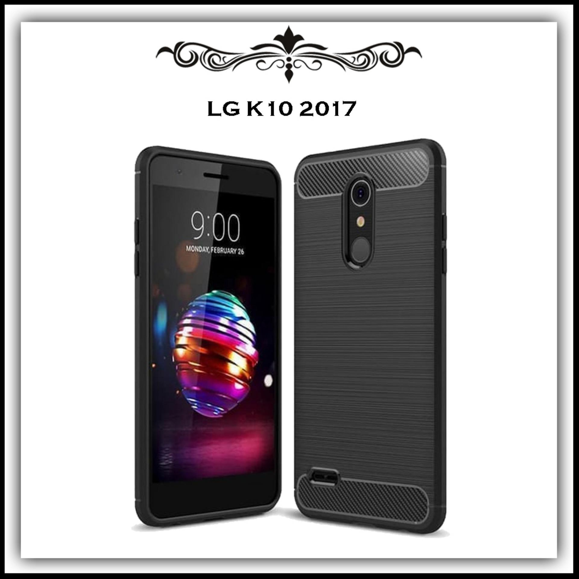 Mushroom Case Ipaky Carbon Fiber Shockproof Hybrid Elegant Case for LG K10  2017 2a06b2388d