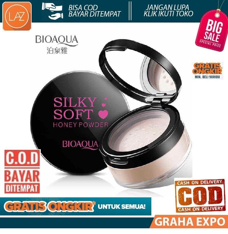 Bioaqua Silky Soft Honey Face Powder Bedak Tabur Ekstrak Madu Isi 15gr Original Laz COD Graha