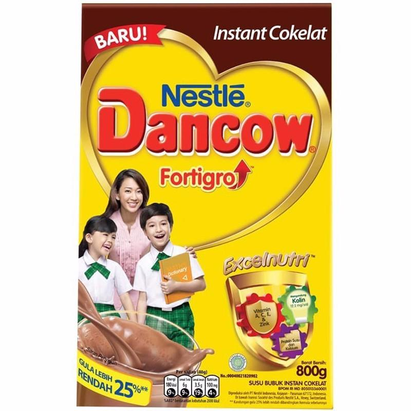 Dancow Fortigo Instant Cokelat Box 800G Indonesia