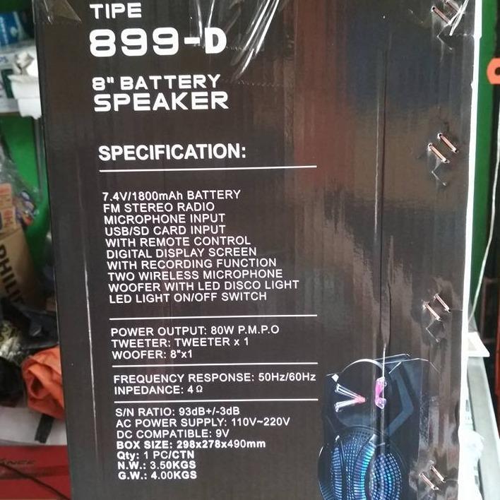 Detail Gambar SPEAKER NOISE MEETING 899 D 2 MIC WIRELESS GENGGAM 8 INCH Terbaru
