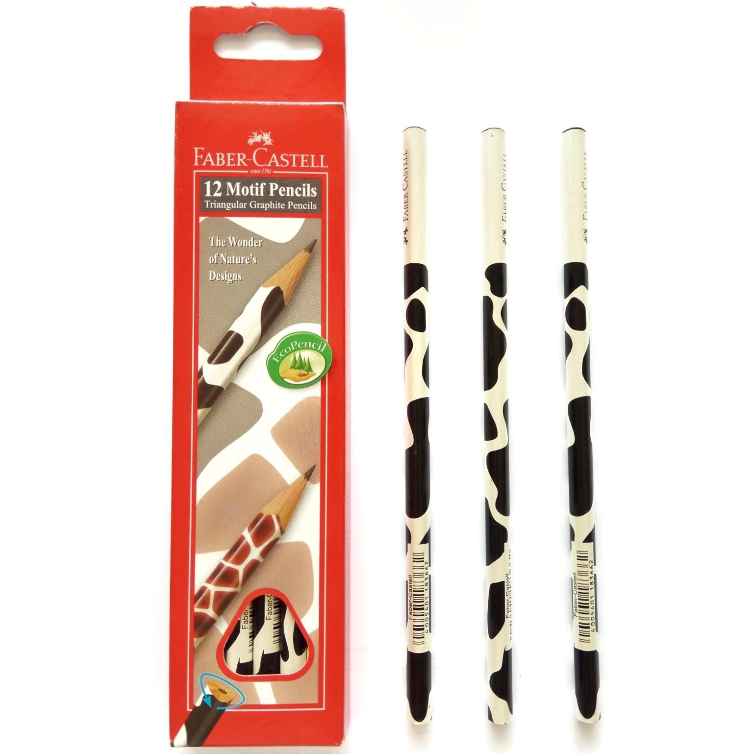Pensil Motif Faber Castell Triangular Animal Kingdom