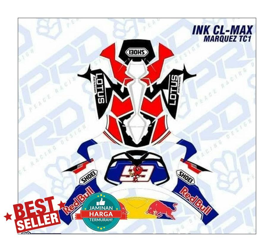 decal sticker helm INK CL MAX - 2 ...