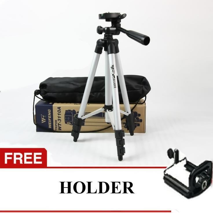 tripod 1 meter gratis holder u medium universal