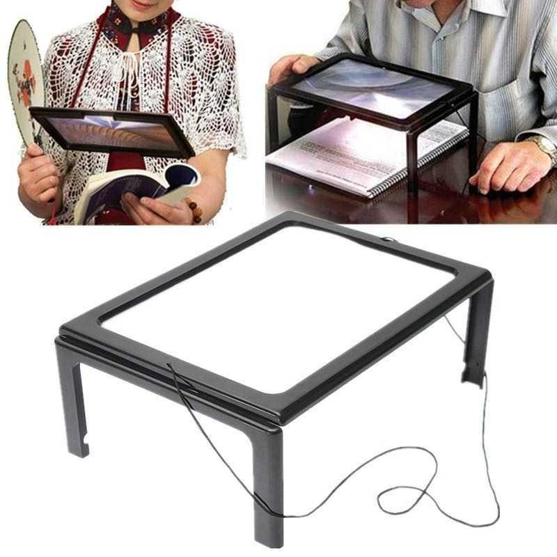 BEST SELLER Kaca Pembesar Bentuk Meja dengan Lampu LED HARGA TERMURAH