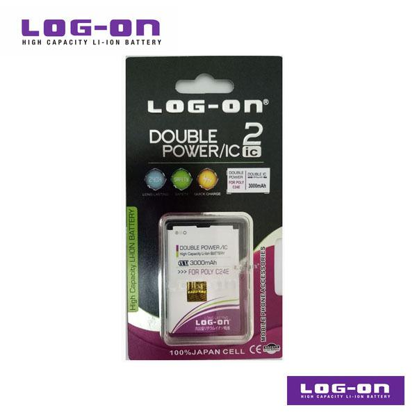 LOG-ON Battery For Polytron C24E - DoublePower & IC - Garansi 3 Bulan