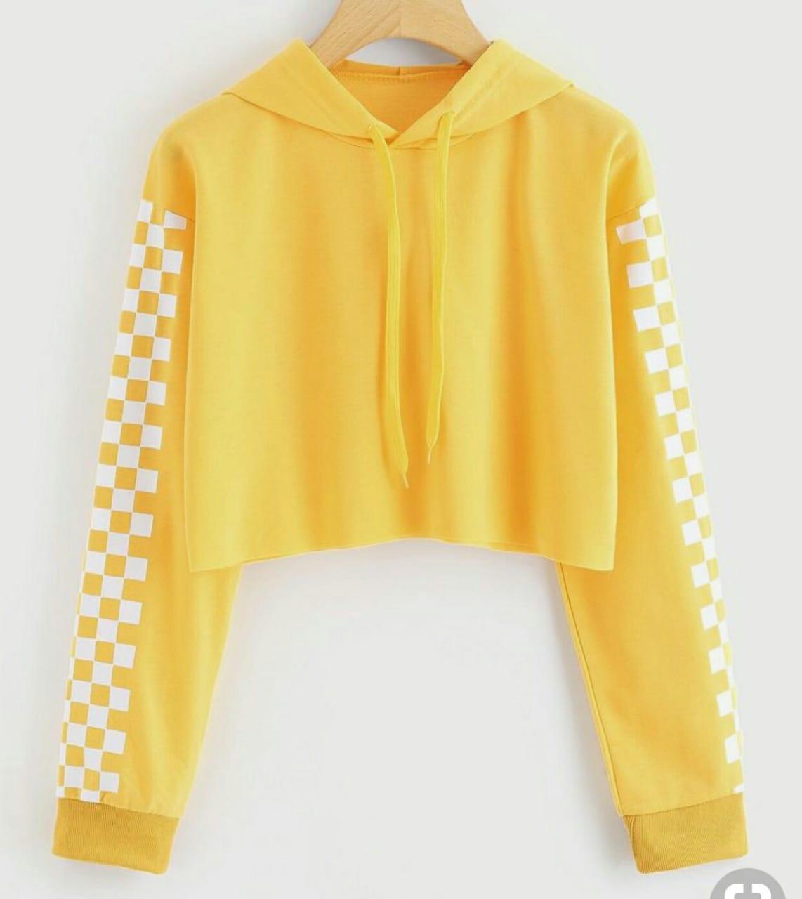 RICARDOF Sweater Crop Wanita Lengan Panjang - Catur