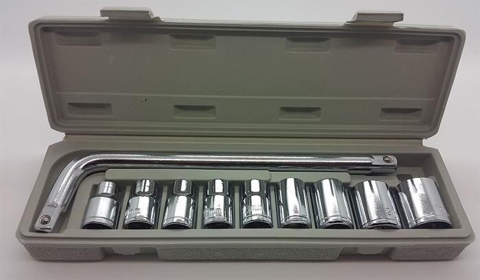 Kunci Sok 10 Pcs (Socket Wrench Set)