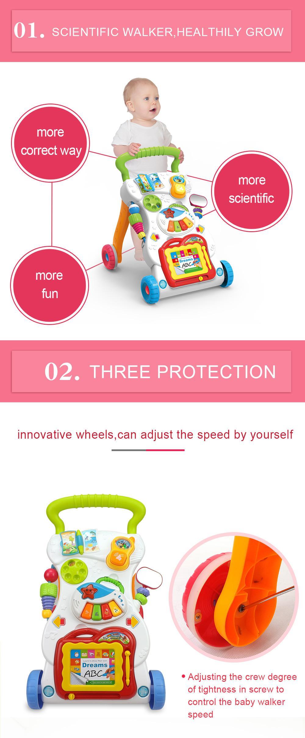 Kelebihan Baby Walker Stroller Alat Bantu Bayi Belajar Berjalan Push Musical Jalan 4