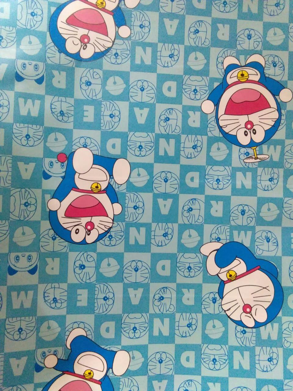 Stiker Wallpaper Dinding - Elegant Wallpaper Sticker (Size 45cm X 10M) - Doraemon