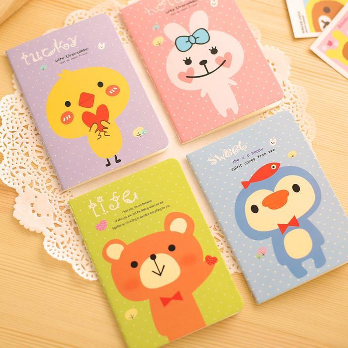 Buku Catatan Small Animal Cartoon Notebook Sno037