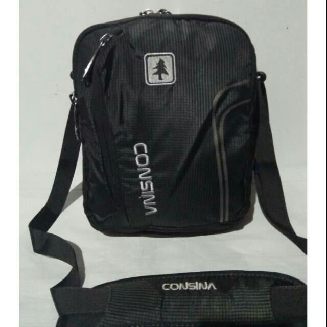 Tas slempang Consina COPETOWN T25xL18xL8cm black