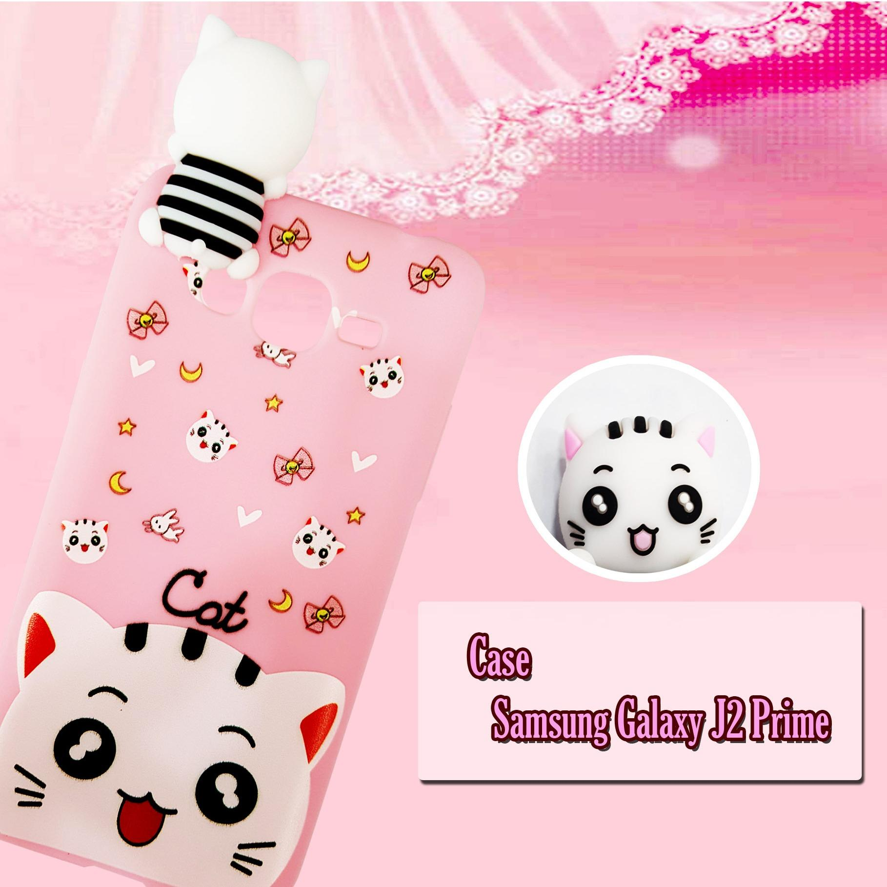 Case Cat Pink Manjat Terbaru For Samsung Galaxy J2 Prime