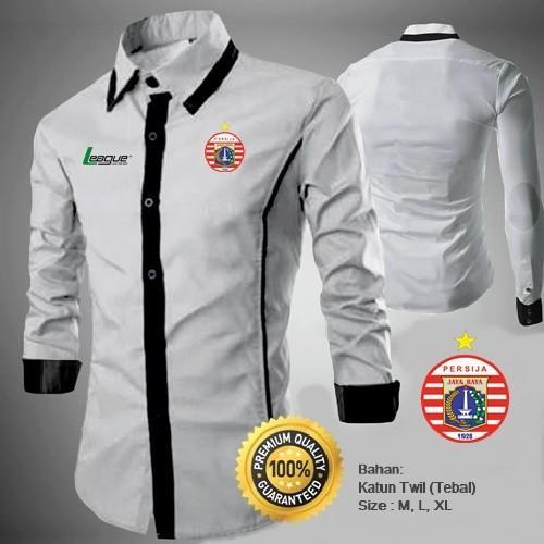 Kemeja Bola Persija Type A White Kemeja Casual Persija Indonesia