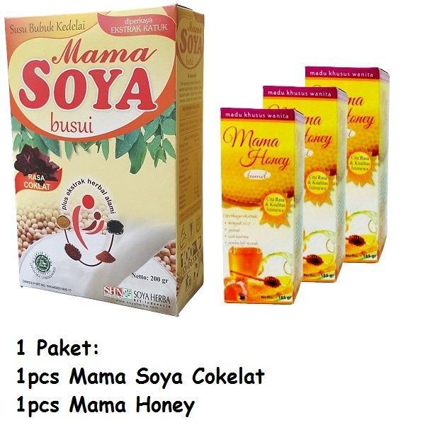Paket Ibu Menyusui Mama Soya dan Mama Honey