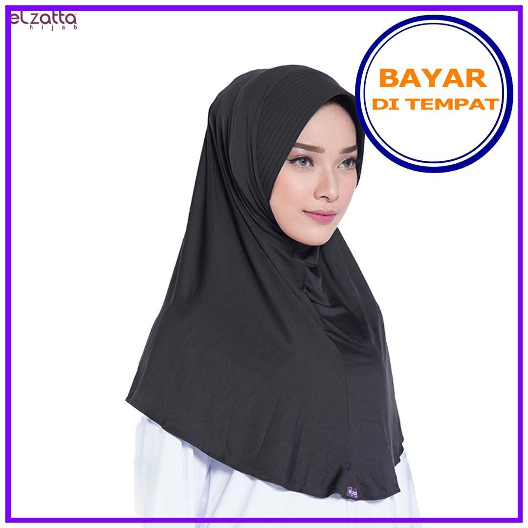 Features Hijab Elzatta Premium Jilbab Instan Syari Bergo Polos Detail Gambar Besar Hijup Terbaru